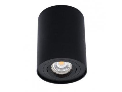 Černé LED bodové svítidlo výklopné BORD DLP-50-B přisazené s paticí pro žárovku GU10 IP20 22552