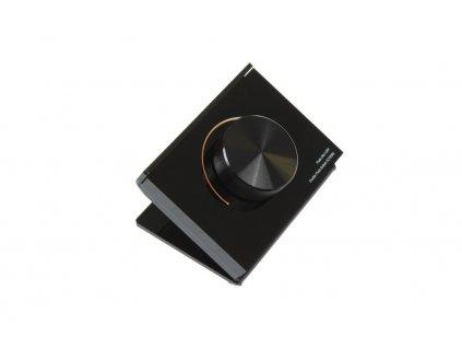 LED designový dálkový ovladač černý dimLED STK CCT 069138 Jednokanálový otočný stmívač Dálkové radiofrekvenční ovládání Dosah ovladače 30m Bi-Color
