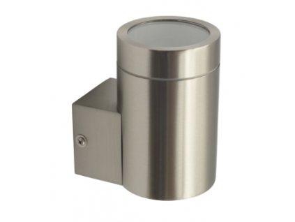 Fasádní přisazené svítidlo MAGRA EL-135  jednostranné pro 1ks žárovky GU10 IP44 stříbrné chromové 18010