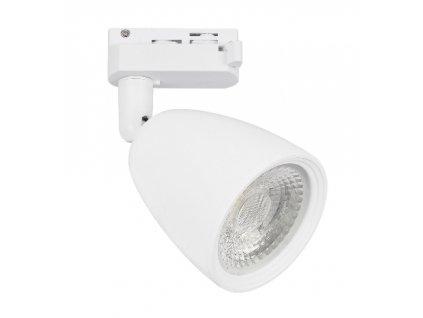 Lištové svítidlo AIKO 10W bílé 1F 3000K teplá bílá - kolejnicové bodové LED světlo reflektor. TopLux Praha skladem