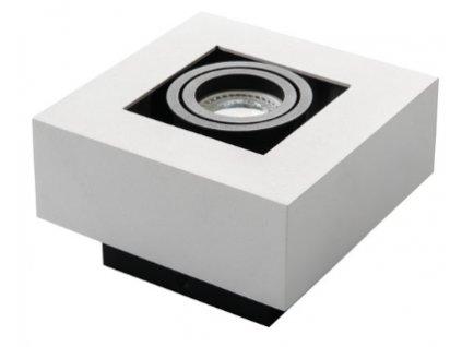 Bílé hranaté bodové svítidlo výklopné STOBI DPL 50-W přisazené stropní světlo pro jednu žárovku 1x GU10 obdelník IP20 26831