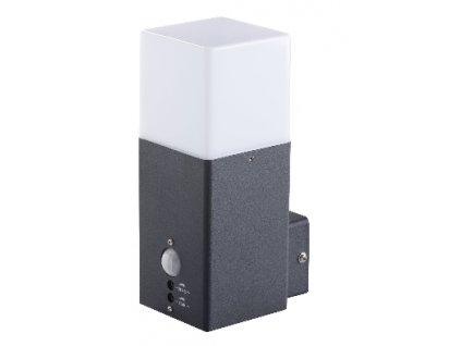 LED venkovní svítidlo VADRA 21l-UP se senzorem s paticí E27 IP44 přisazené fasádní hranaté 29011
