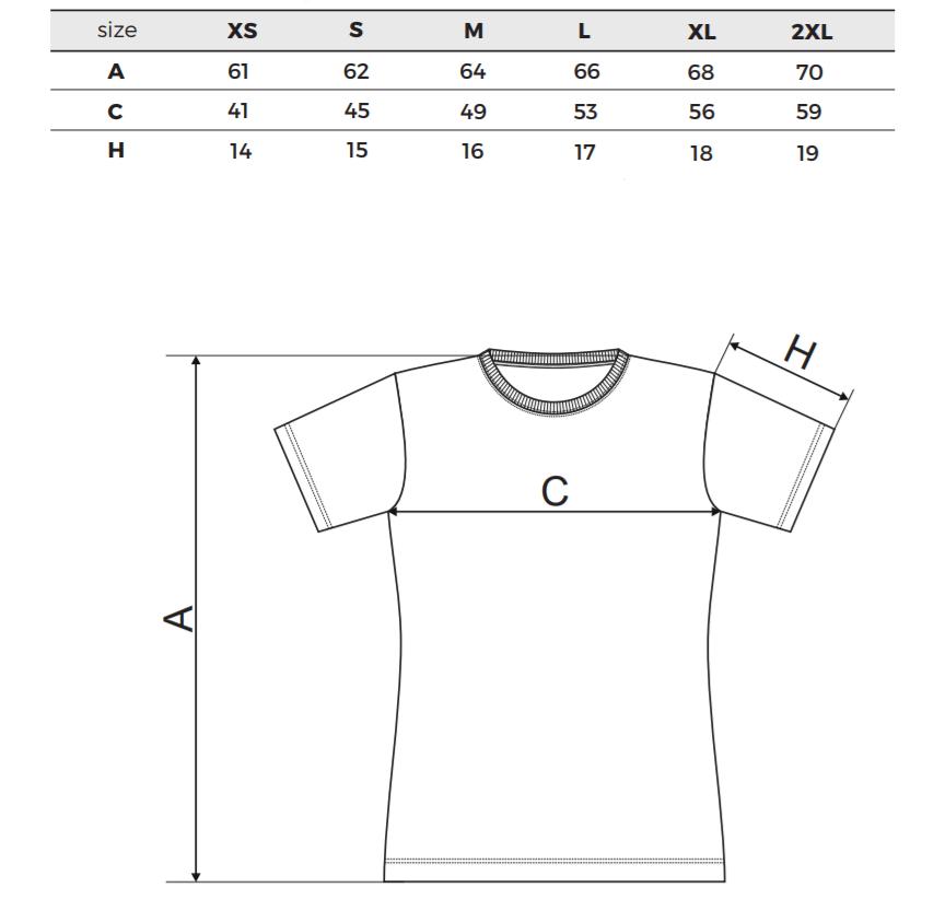 Tričko pro maminky - tabulka velikostí
