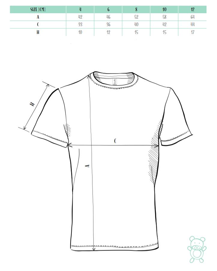 dětské triko tabulka velikostí