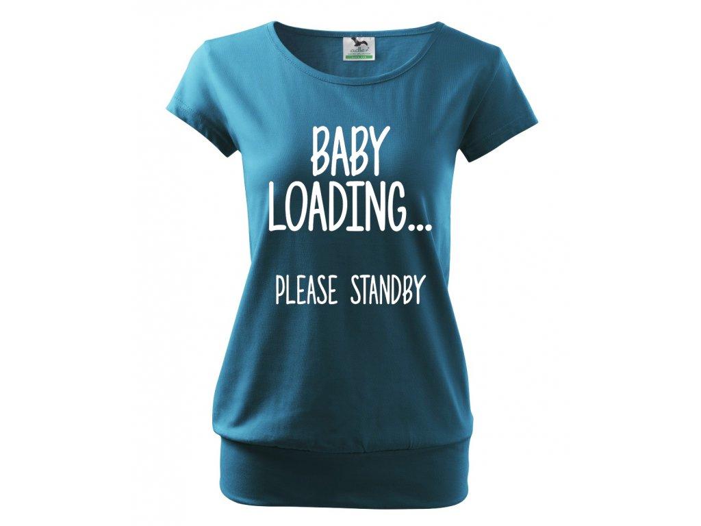 těhotenské modré tričko miminko se načítá, prosím vydržte.
