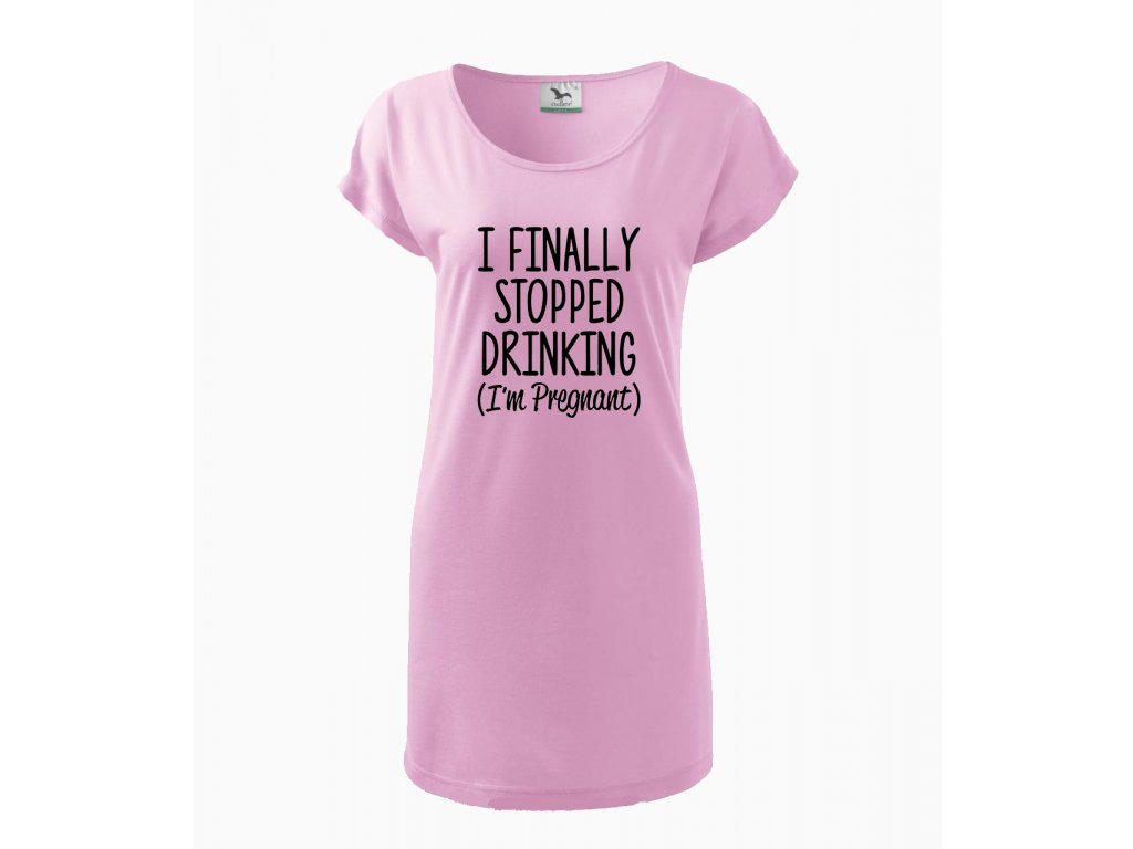 Těhotenské šaty Konečně jsem přestala pít, jsem těhotná