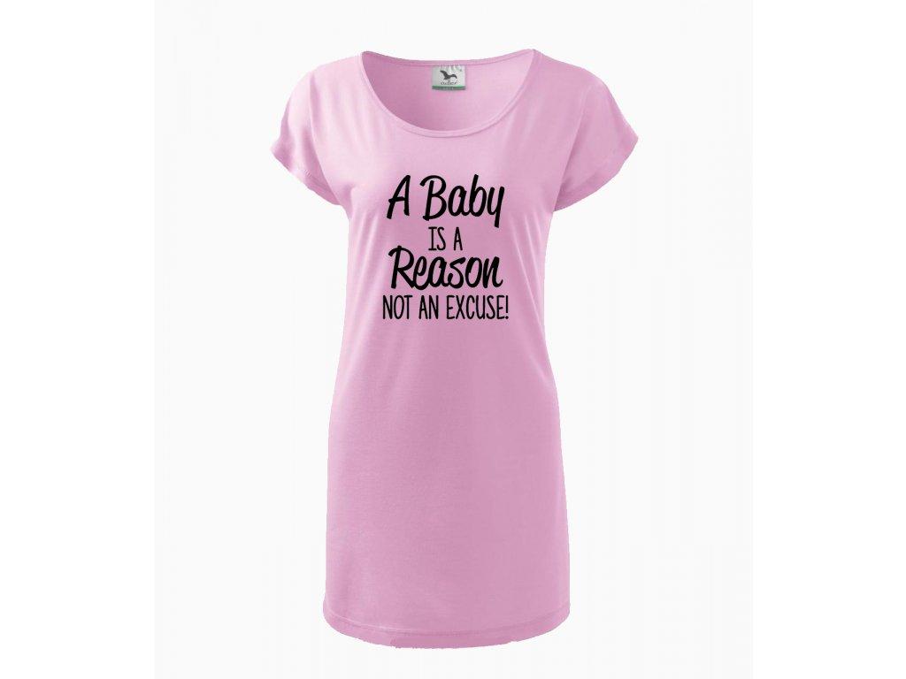 Těhotenské šaty Miminko je důvod, ne výmluva