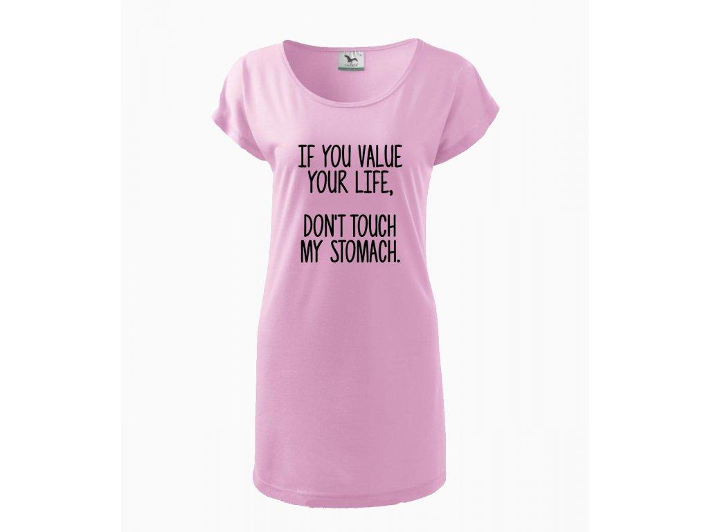 Těhotenské šaty Pokud si vážíš svého života, nedotýkej se mého bříška