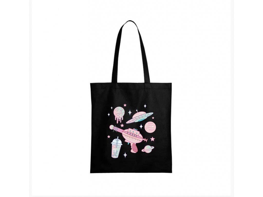 nákupní taška černá galaxie