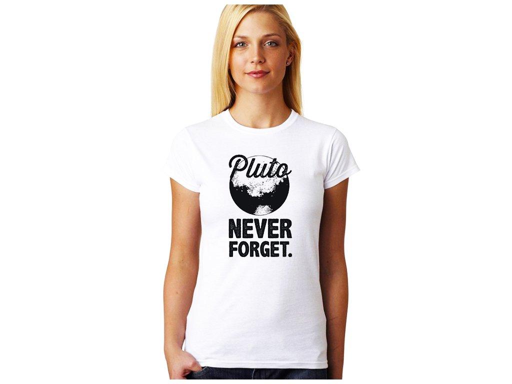 dámské bílé tričko PLANETA PLUTO
