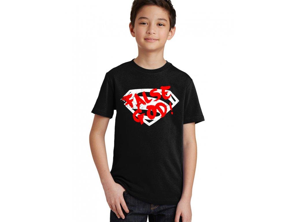 Dětské tričko Superman Falešný bůh