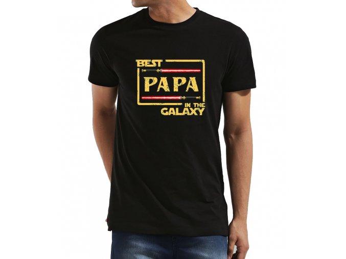 Pánské tričko pro tatínka Nejlepší táta v galaxii