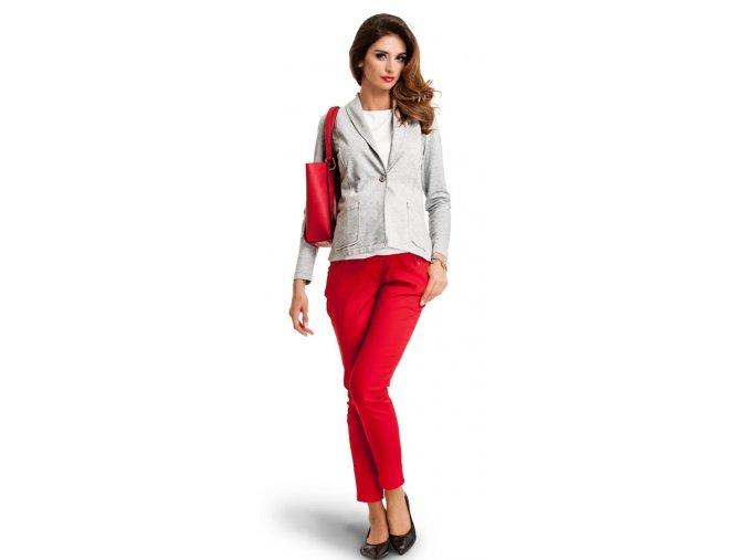 Stylové červené těhotenské kalhoty JOLLY