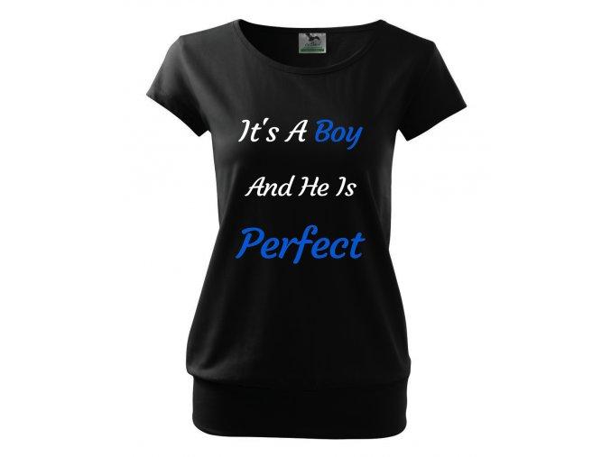 těhotenské tričko je to chlapeček a je perfektní
