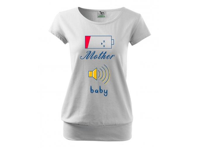 těhotenské tričko Máma vs miminko