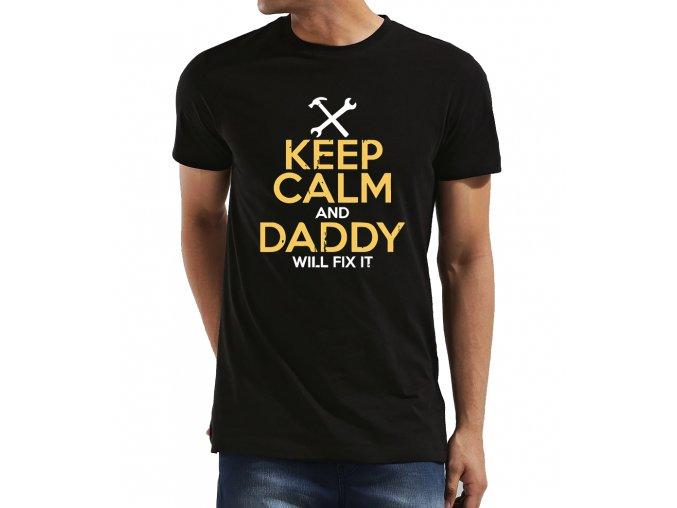 Pánské tričko pro tatínka buď potichu a táta to opraví