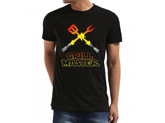 Pánské tričko pro tatínka Grilovací mistr Imitace Star wars
