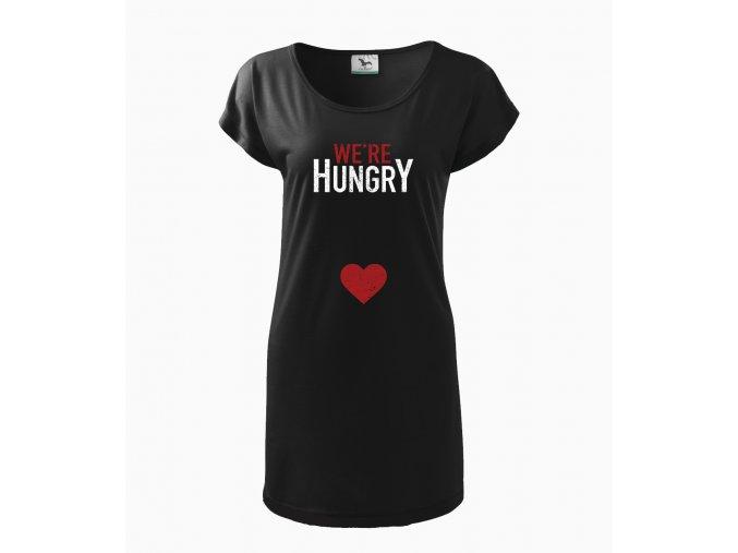 Těhotenské šaty Já a Miminko máme hlad