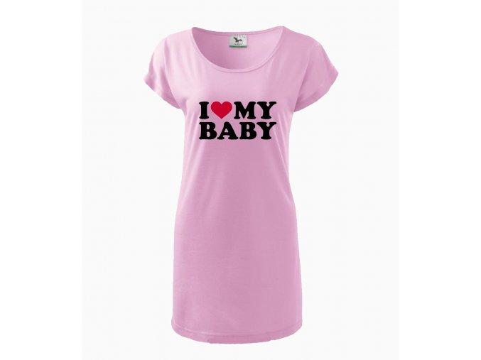 Těhotenské šaty Miluji své miminko