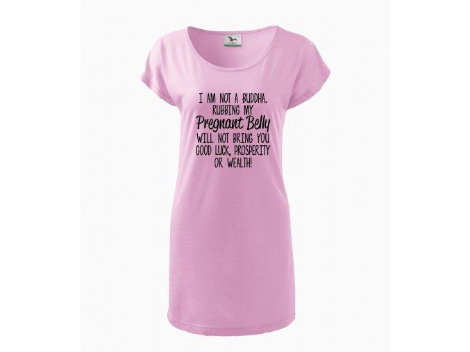 Těhotenské šaty NEJSEM BUDHA HLAZENÍ PO BŘÍŠKU