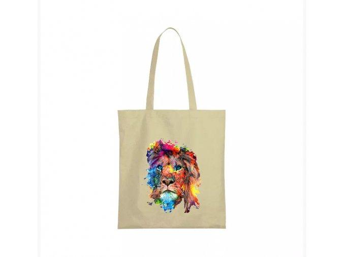 nákupní taška béžová lev