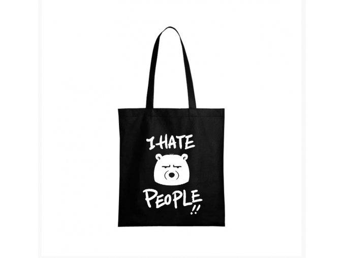nákupní taška černá nesnáším lidi