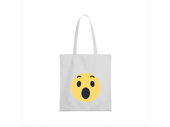 nákupní taška bílá facebook smajlík super