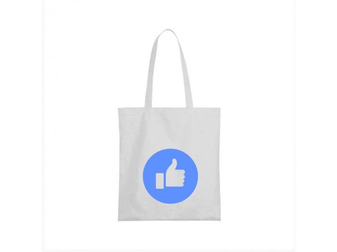 nákupní taška bílá facebook lajk