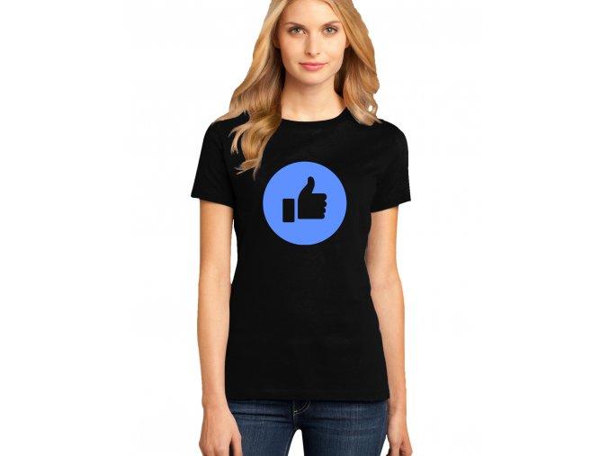 dámské černé tričko palec nahoru