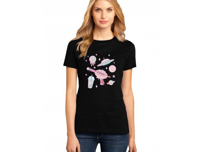 dámské černé tričko GALAXIE