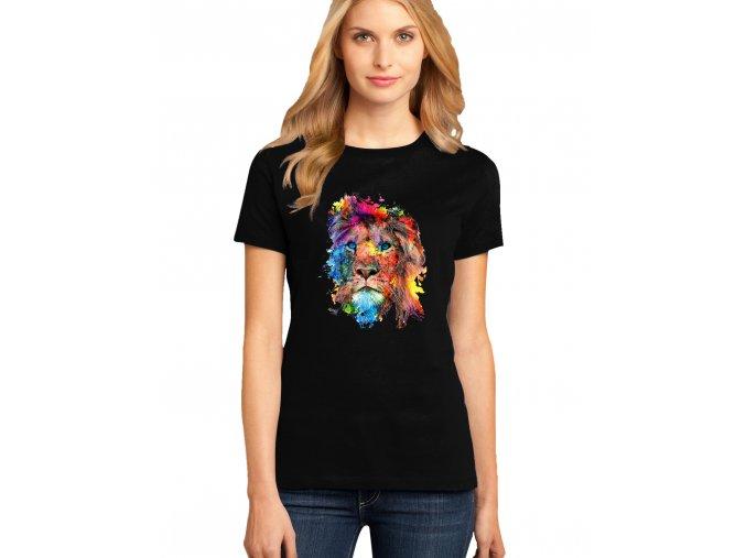 dámské černé tričko LEV