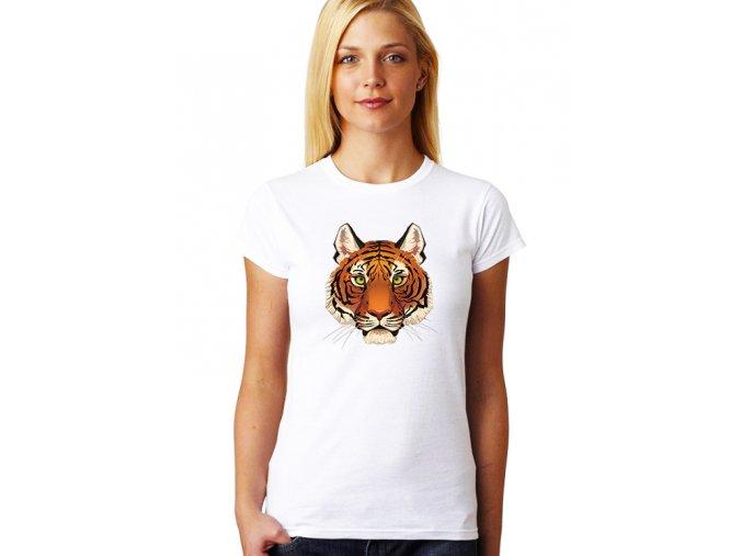 dámské bílé tričko LEV KRÁL