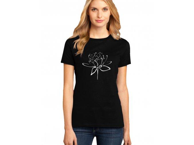 dámské černé tričko LOTOSOVÝ KVĚT