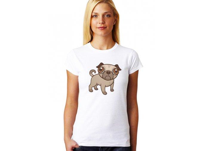 dámské bílé tričko ŠTĚNÁTKO
