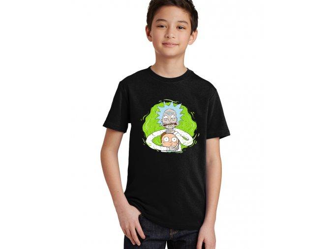 Dětské tričko Rick and Morty