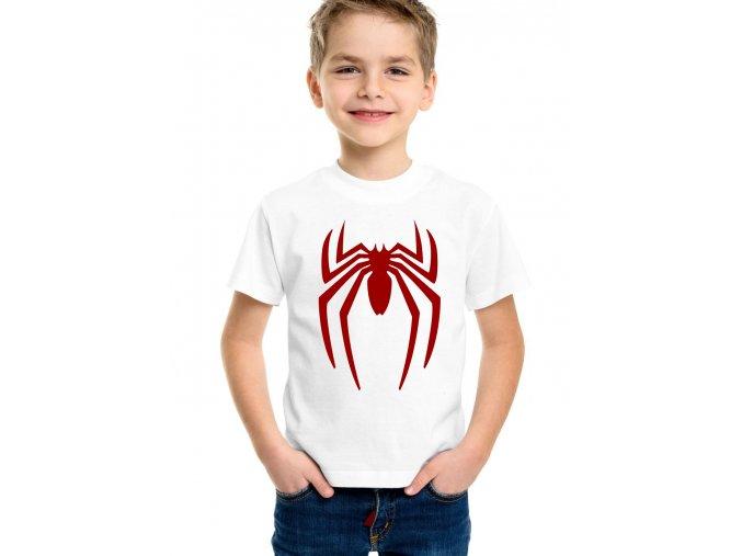 dětské bílé tričko spiderman pavouk