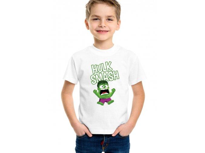 Dětské tričko Hulk rozmlátit