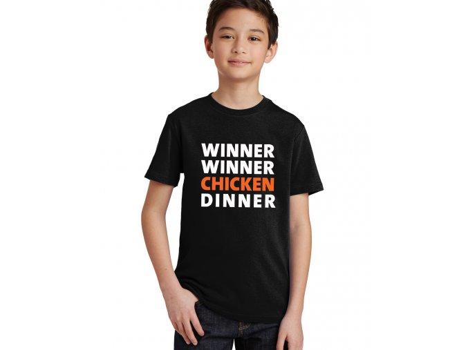 Dětské tričko Pubg chicken dinner