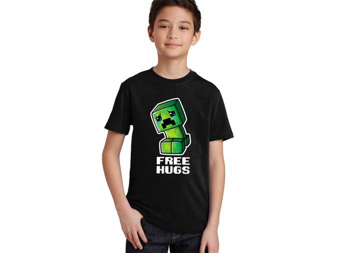 dětské tričko Minecraft obětí zdarma