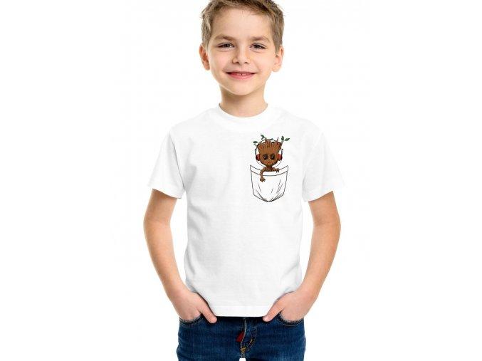 Dětské tričko Groot kapsička