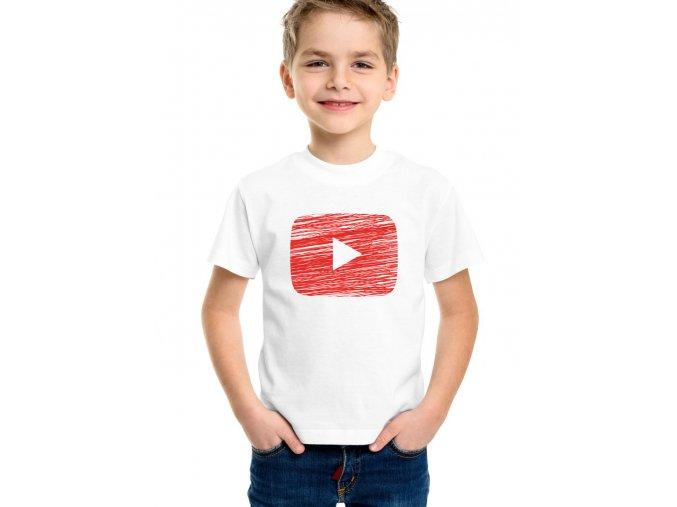 Dětské tričko Youtube