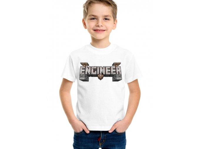 Dětské tričko Minecraft inženýr
