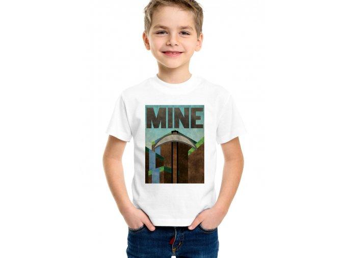 Dětské tričko Minecraft Těžit