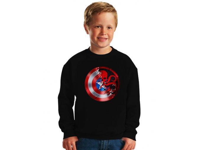 dětská mikina Kapitán amerika a hydra
