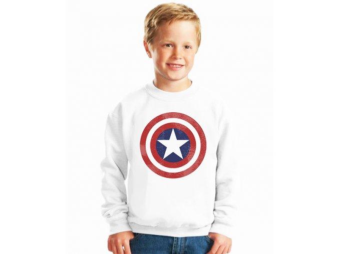 dětská mikina Kapitán amerika štít