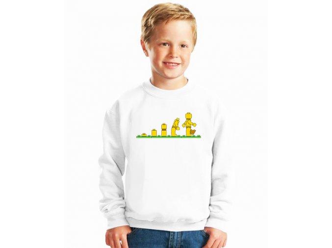 dětská mikina Lego panáček evoluce
