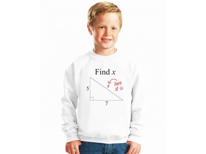 dětská mikina Matematika kolik je X