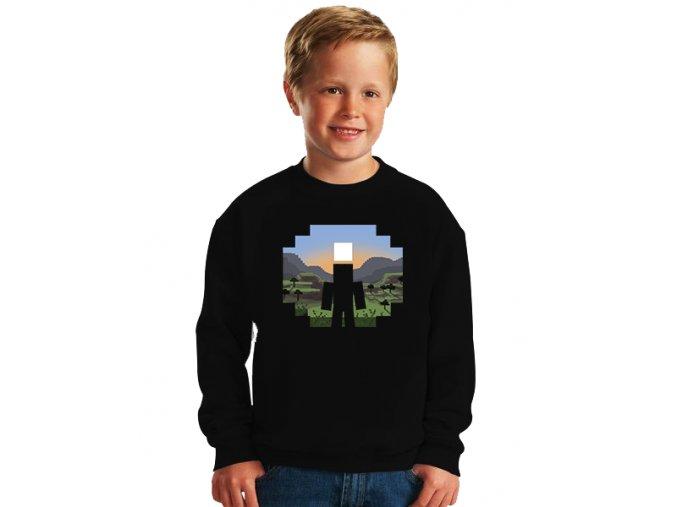 dětská mikina Minecraft Krajina
