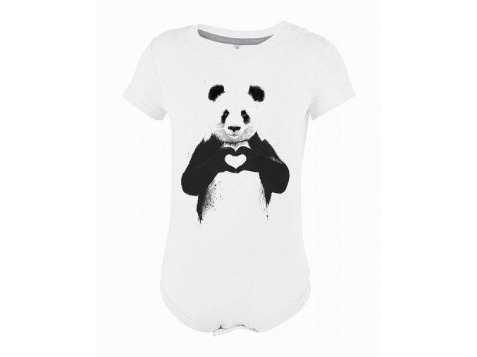 Kojenecké body panda láska