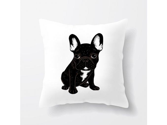 polštář roztomilý Bulldog